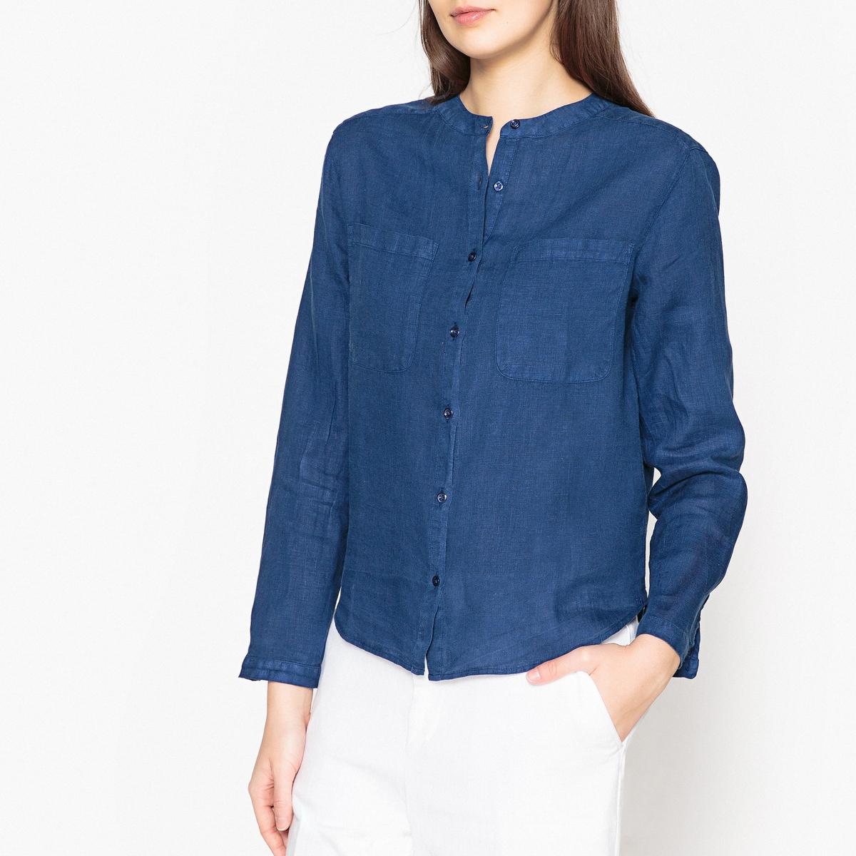 Рубашка прямого покроя из льна LINEA рубашка harris wilson harris wilson ha019emqpi74