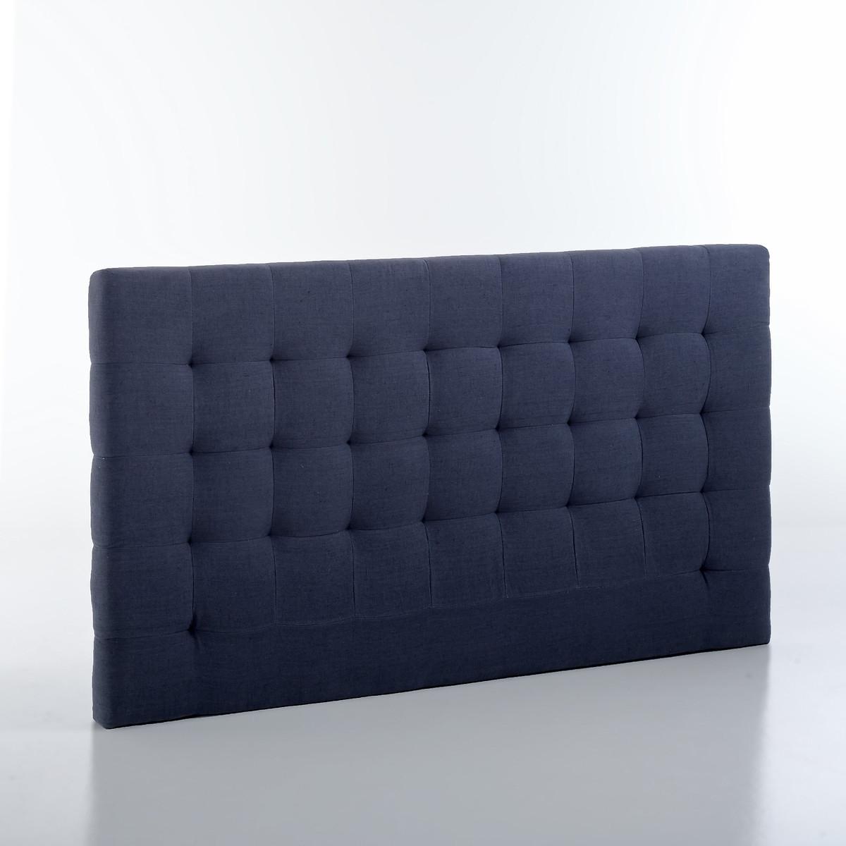 Изголовье LaRedoute Кровати с обивкой из льна 100 см Selve 160 см синий кровати 160 см