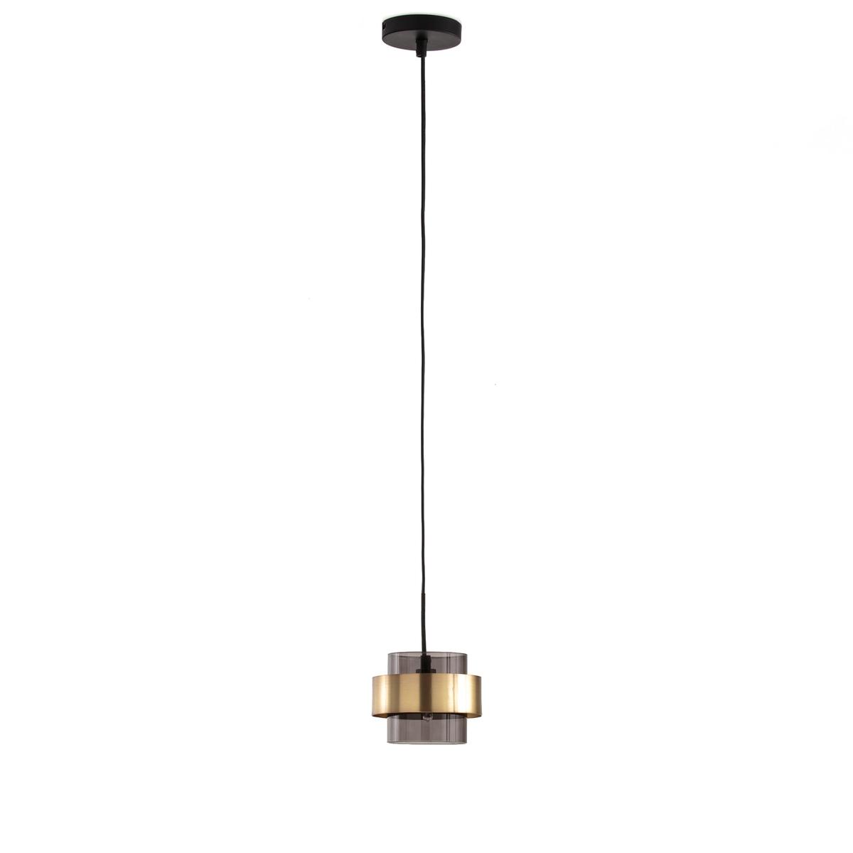 Светильник из стекла и металла BOTELLOСветильник из затемненного стекла и металла с отделкой под латунь , Botello. Украсьте ваш интерьер оригинальным, роскошным и стильным светильником .Описание светильника, Botello:Чаша плафона из металла, покрытого эпоксидной эмалью Патрон для лампочки G9 LED макс 5Вт (не входит в комплект) Этот светильник совместим с лампочками    энергетического класса  : A.Абажур из металла с латунной отделкой и тонированного стеклаХарактеристики светильника, Botello:Метал с покрытием эпоксидной эмалью+ металл с отделкой под латунь + затемненное стекло .Найдите другие модели из коллекции светильников Botello на сайте laredoute.ruРазмеры светильника, Botello:Диаметр 13,8 см Регулируемая длина кабеля макс.1 м<br><br>Цвет: черный/латунь