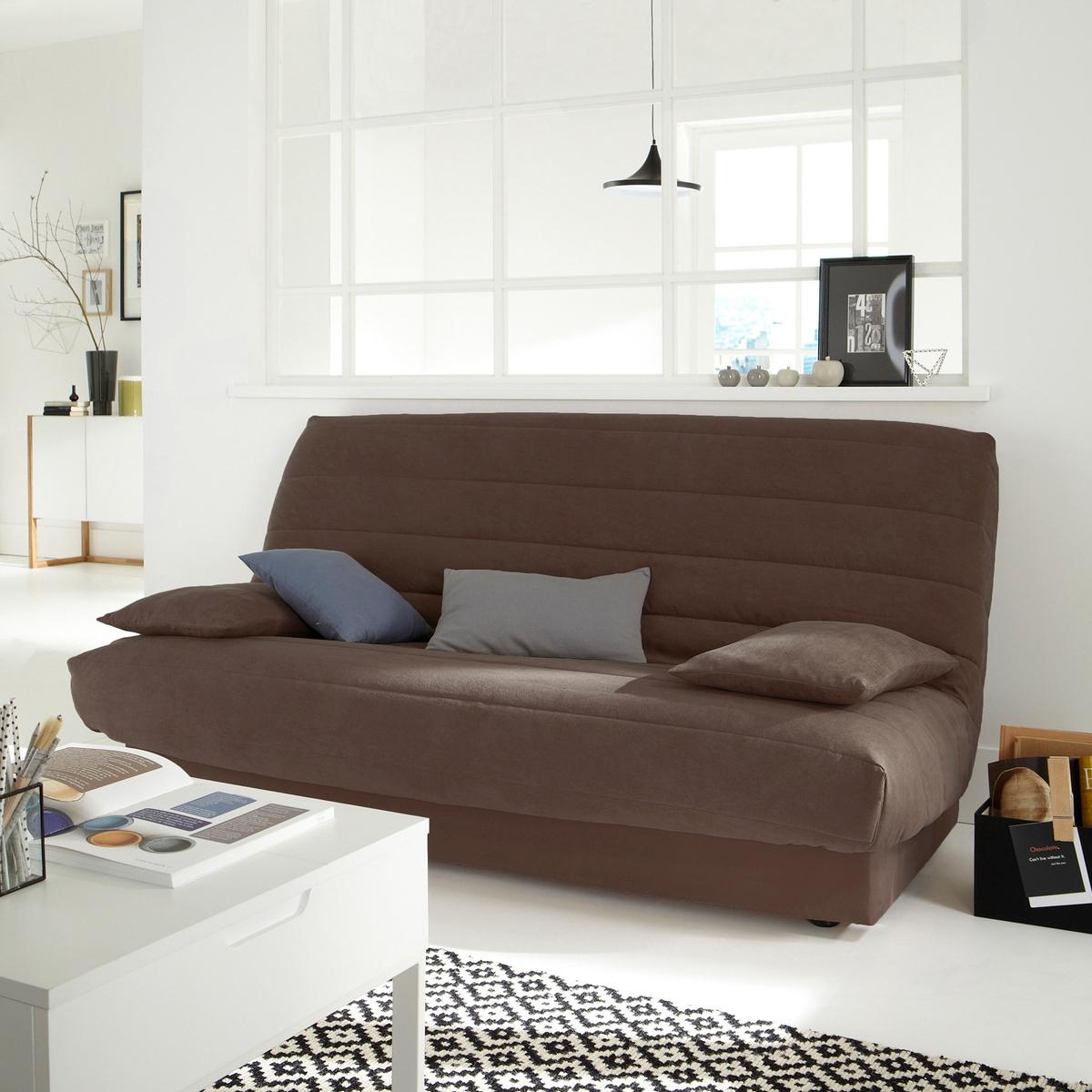 Чехол LaRedoute Для раскладного дивана из искусственной замши единый размер каштановый