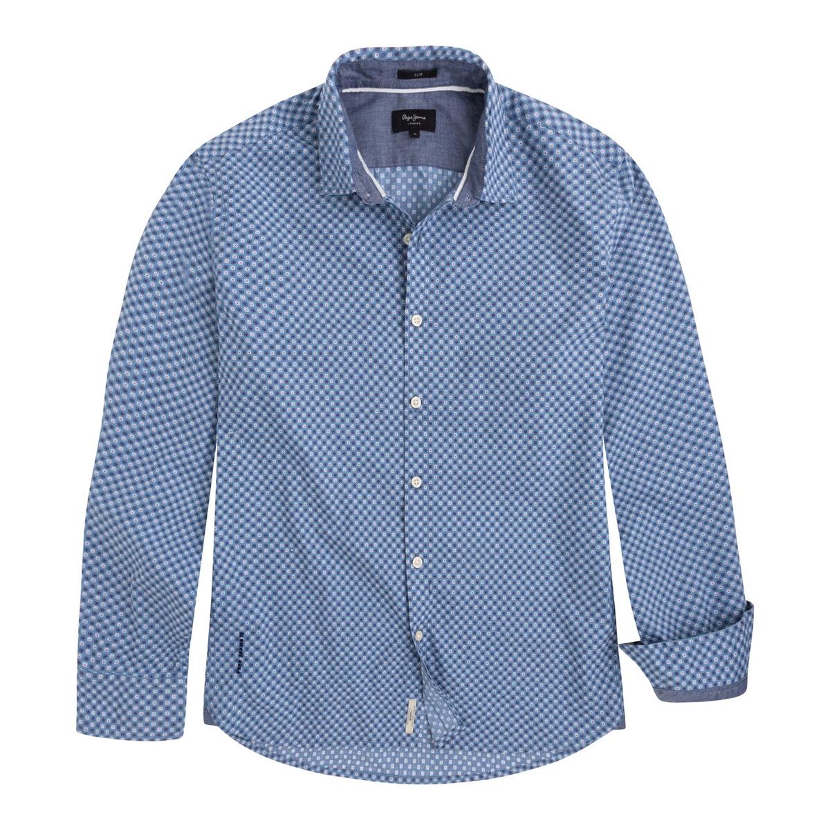 Camisa MAYWARD recta y estampada, 100% algodón