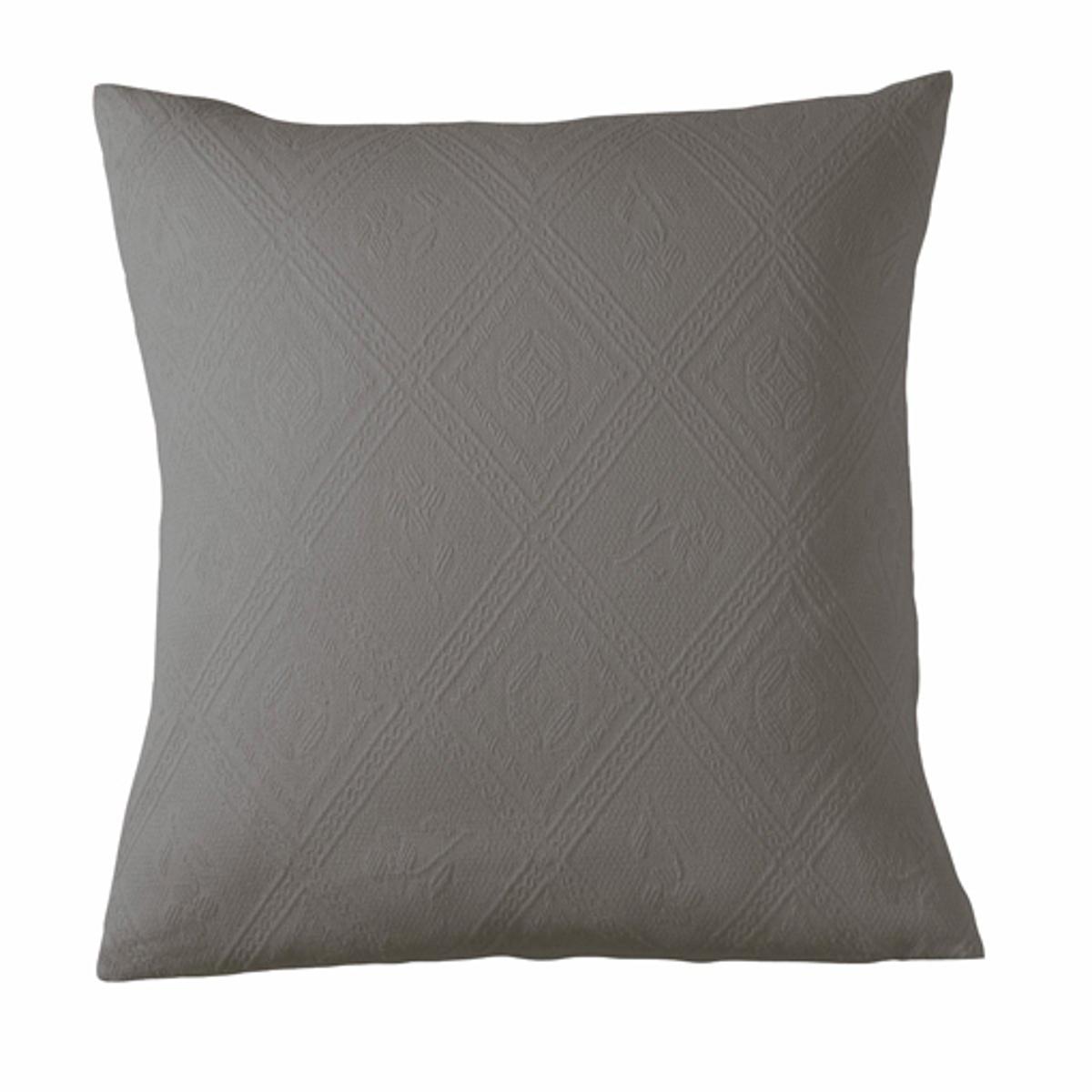 Чехол La Redoute На подушку или наволочка из хлопковой жаккардовой ткани INDO 65 x 65 см серый чехол la redoute для подушки или наволочка однотонного цвета с помпонами riad 65 x 65 см розовый