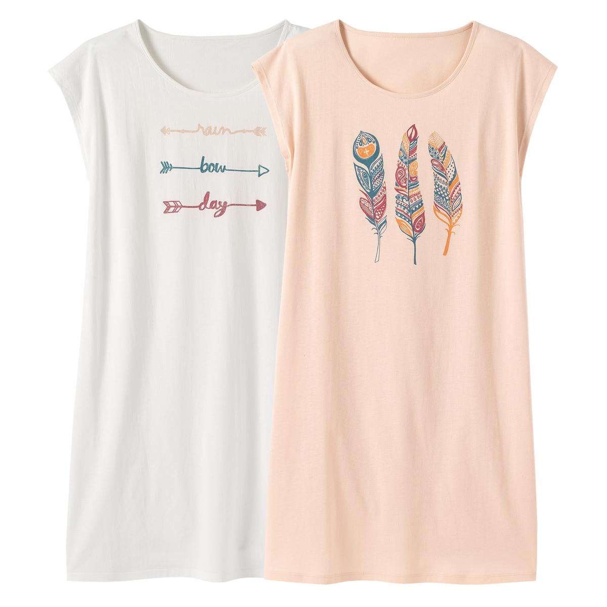 2 ночные сорочки с рисунком