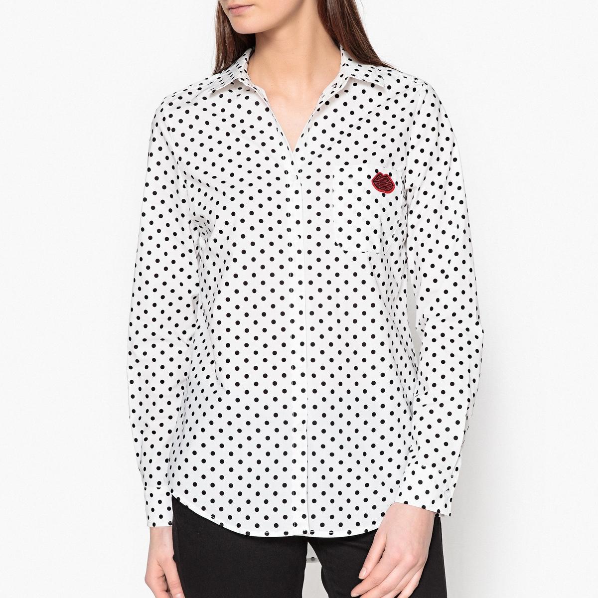 Рубашка с вышивкой и рисунком PAKSOI рубашка с вышивкой