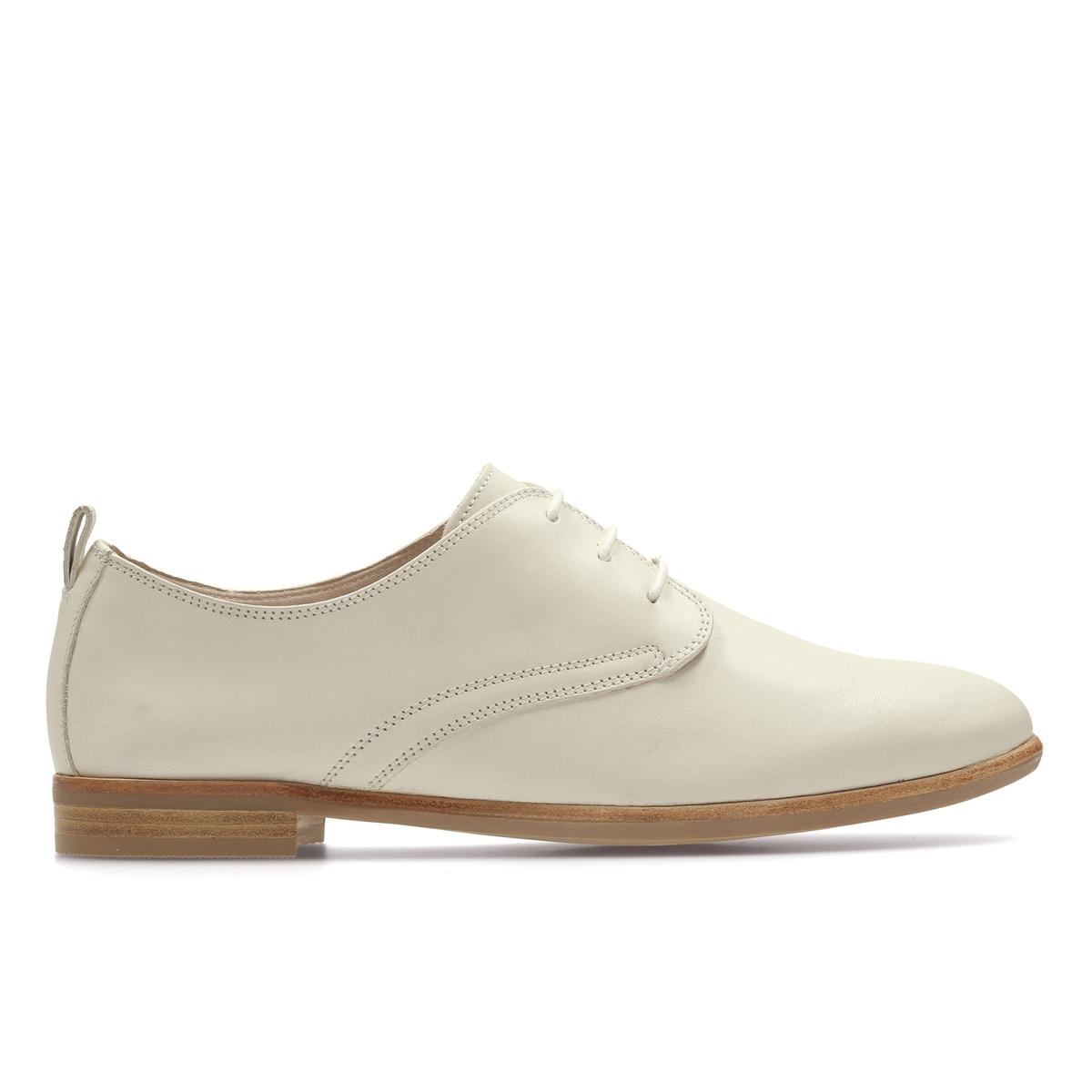Ботинки-дерби кожаные Alania PoseyВерх : Кожа.   Подкладка : Кожа.   Стелька : Кожа.   Подошва : Каучук   Высота каблука : 2 см.   Форма каблука : плоский каблук   Мысок : закругленный   Застежка : Шнуровка<br><br>Цвет: белый