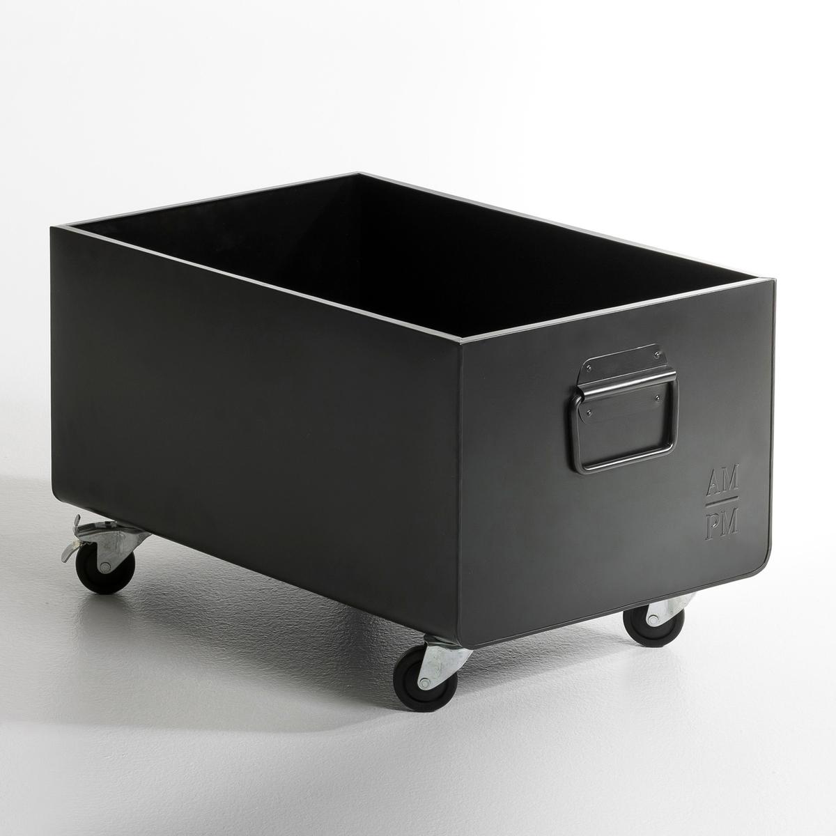 Ящик на колесах ToyboxИз металла с эпоксидным покрытием. 2 ручки. 4 колеса, 2 из которых с тормозом. Размеры: Ш.61,5 x Г.39,5 x В.29 см (В.39 см с колесами). Ящик идеально подходит для хранения игрушек, журналов, книг...<br><br>Цвет: серый,черный