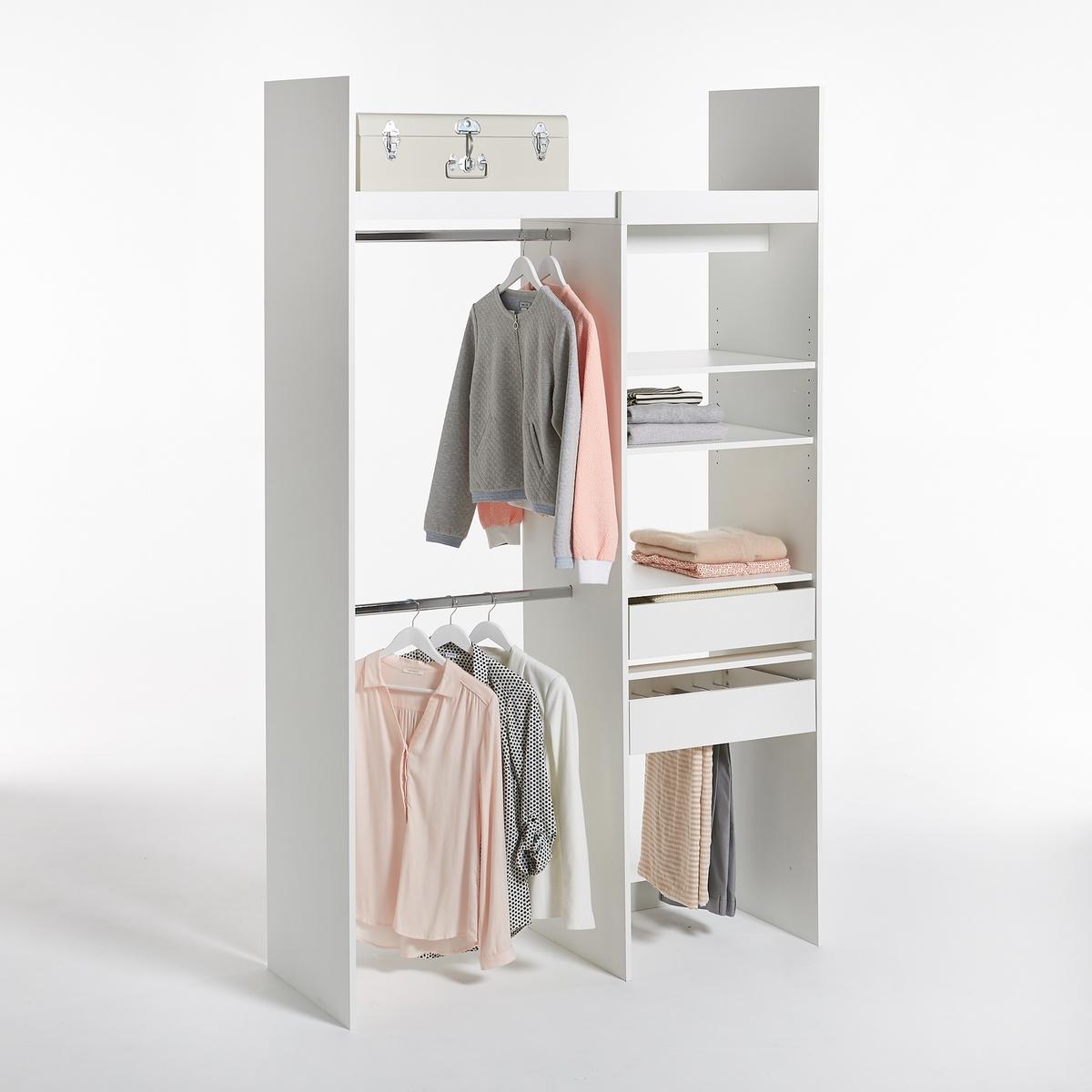 Гардероб модульный с 1 стеллажом и 2 отделениями для одежды Yann