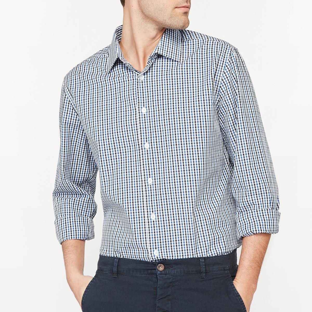Рубашка прямого покроя 100% хлопок