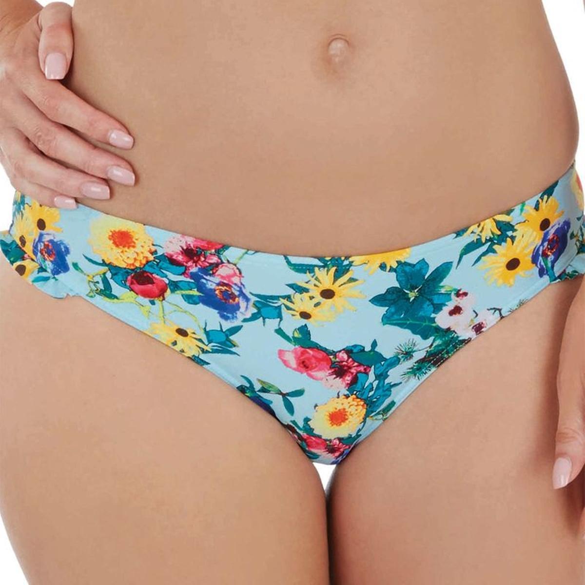 Slip de bain taille basse Audelle FLOWER POWER flower print S