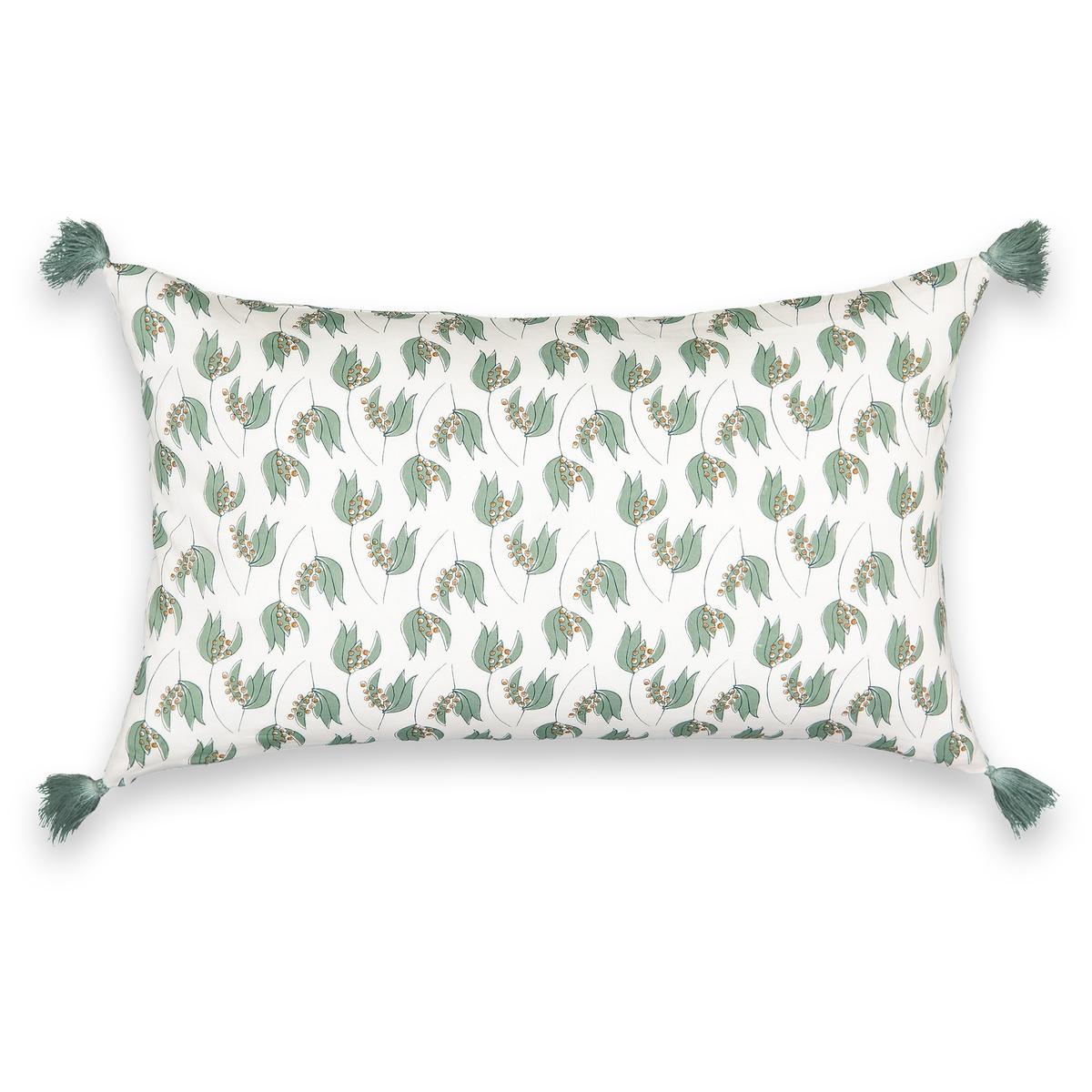 Чехол LaRedoute На подушку LENITA 50 x 30 см зеленый