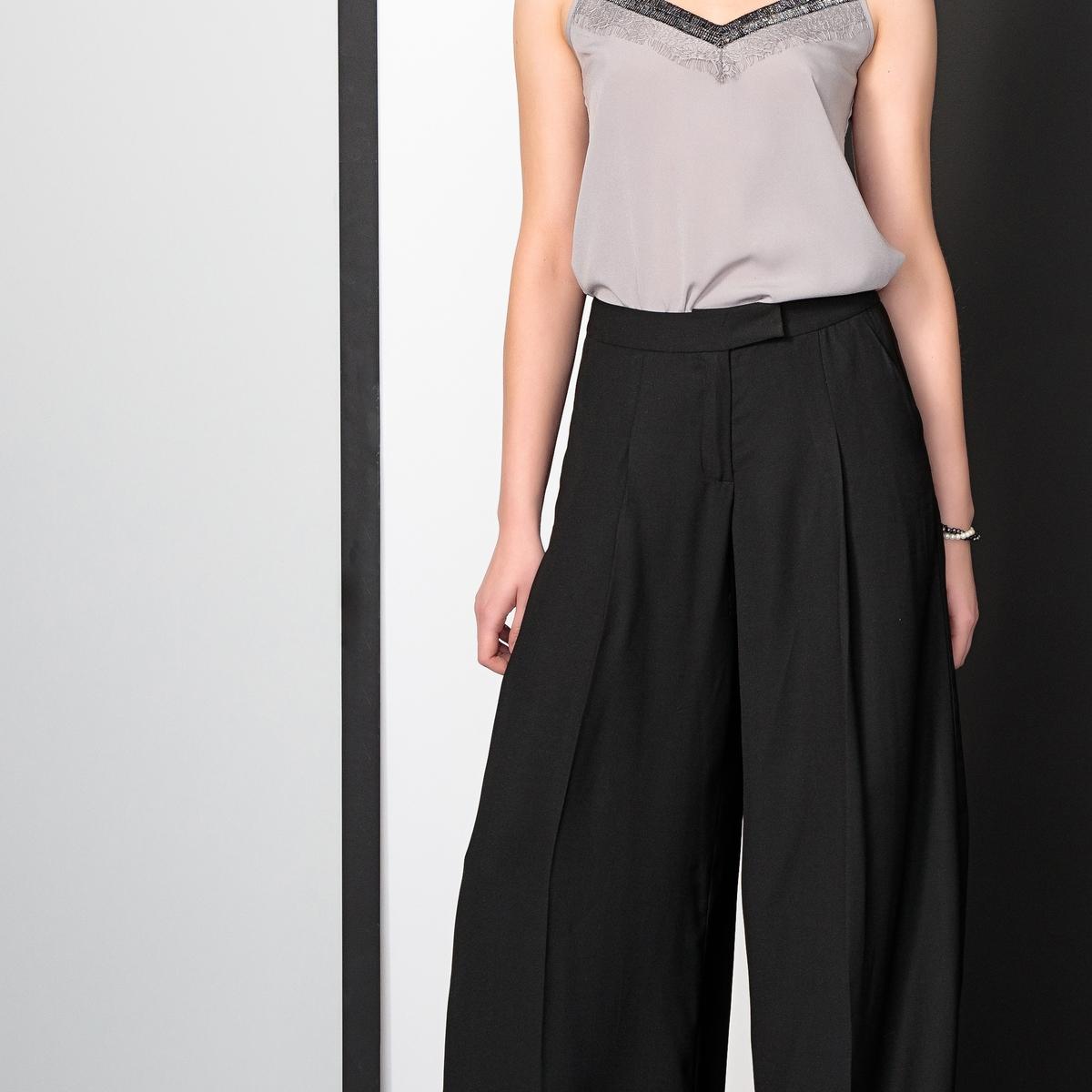 Imagen adicional 3 de producto de Pantalón urbano ancho de sarga stretch - Anne weyburn