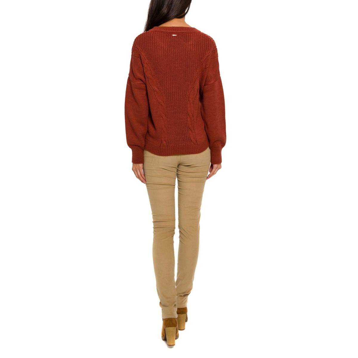 Пуловер с длинными рукавамиПуловер PARAMITA. Плетёный трикотаж спереди. Круглый вырез. Длинные рукава.          Состав и описание     Материал: 100% акрила.     Марка         PARAMITA<br><br>Цвет: бордовый<br>Размер: XL