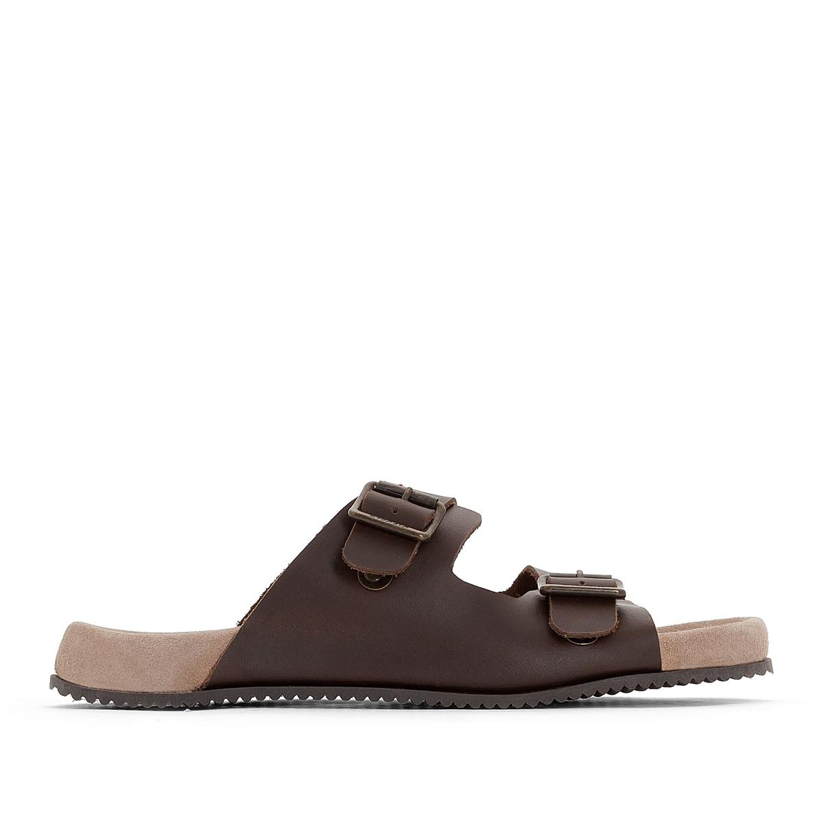 Туфли без задника из кожи Relaxou