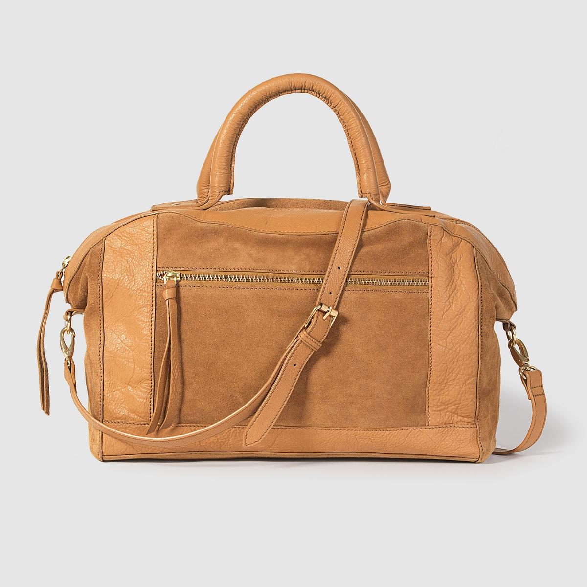 Сумка-мешок кожаныйМарка : R STUDIOРазмеры : 35 x 29 x 12 смВерх : невыделанная кожа и яловичная кожаПодкладка : текстильЗастежка : на молниюКарманы : внутренний карман и внешний карман на молнииПлечевой ремень : ручки и съемный ремень из кожи Преимущества : Кожа является главным, но не единственным преимуществом, так как в сумке достаточно места, чтобы положить все необходимое или почти все.<br><br>Цвет: темно-бежевый,черный