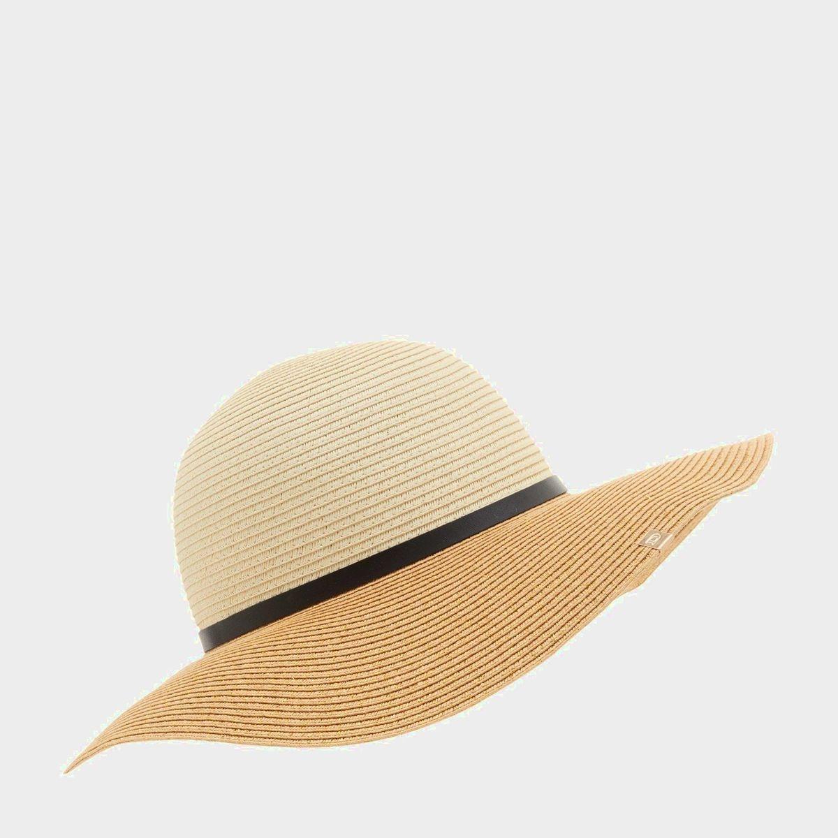 Chapeau de paille avec bordure style ceinture - FLAIT