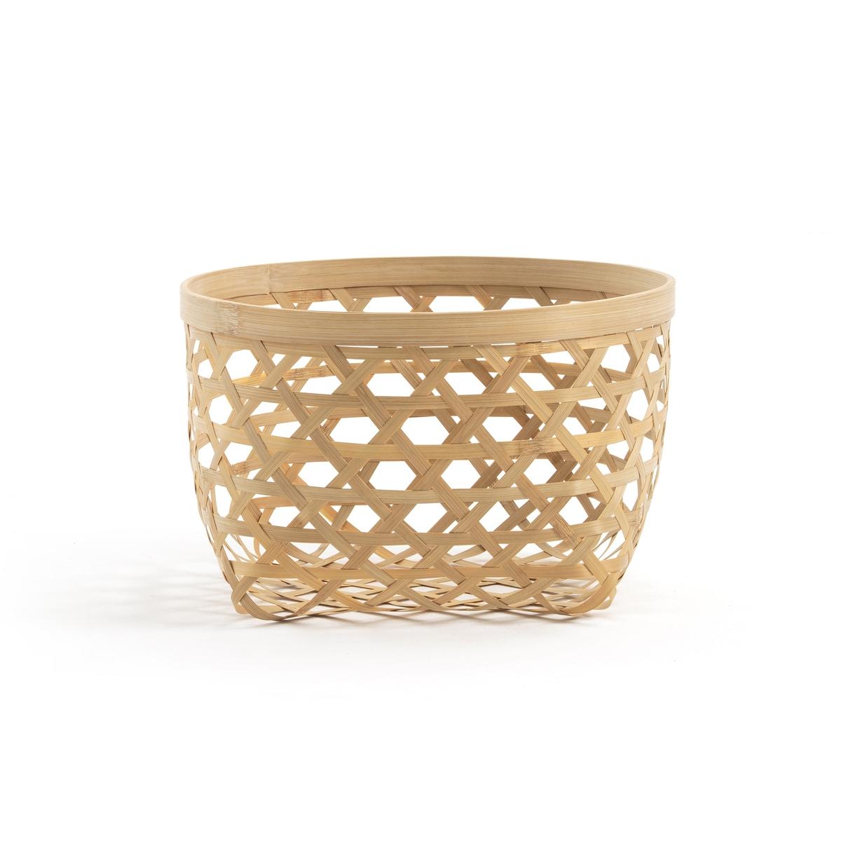 Корзина La Redoute Из бамбука Nylia размер маленький единый размер бежевый корзина la redoute x в см бамбук и плетеный ротанг brazil единый размер каштановый