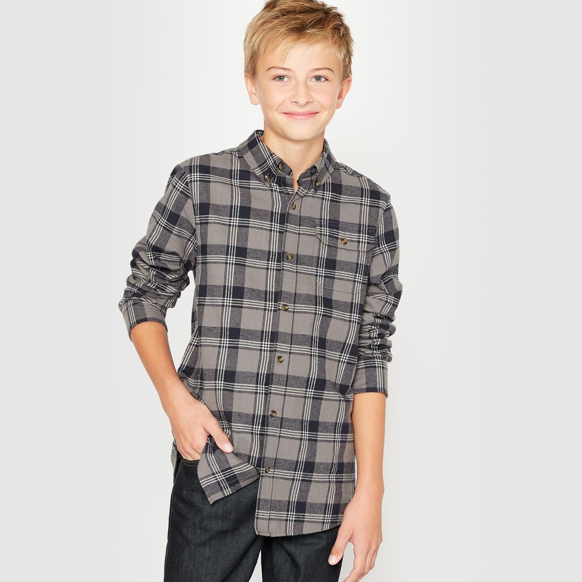 Рубашка в клетку, 10-16 лет