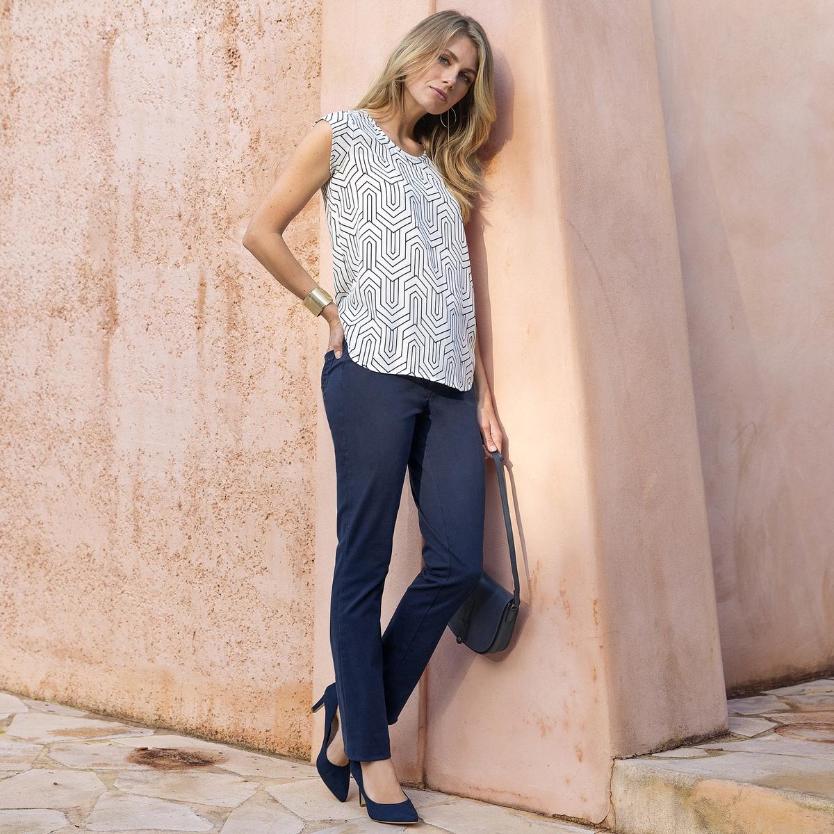 Imagen adicional 2 de producto de Pantalón recto de sarga stretch - Anne weyburn