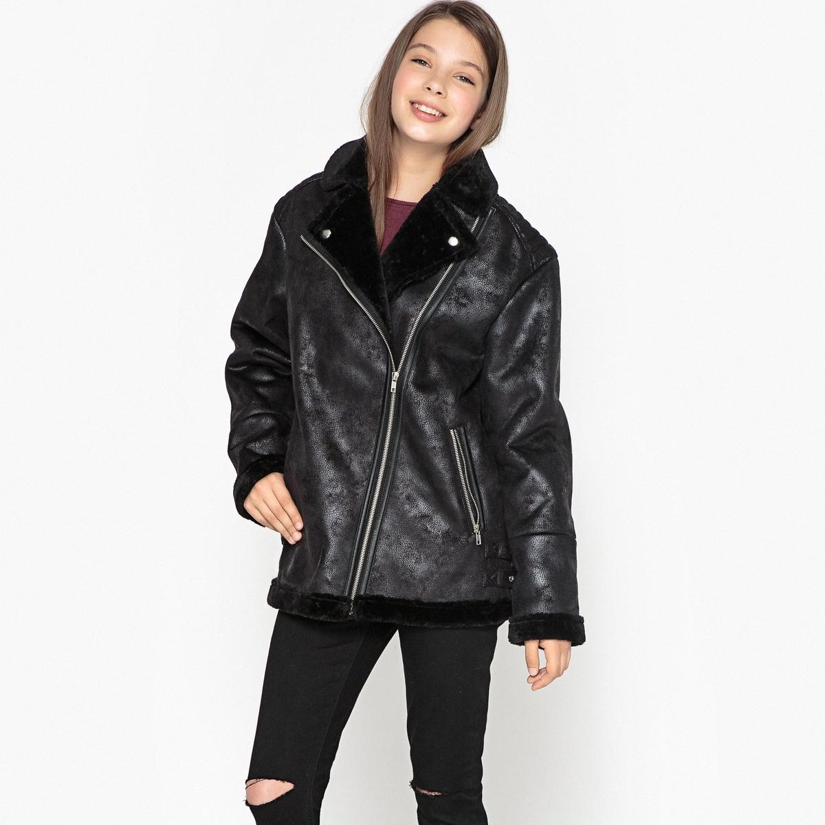 Куртка в стиле пилотной оверсайз, 10-16 лет