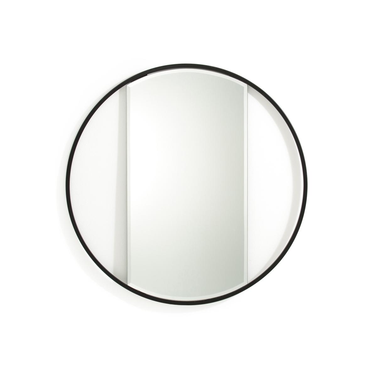 Зеркало круглое, REFLETОписание:Круглое зеркало с отделкой эпоксидной краской по контуру. Зеркало Reflet с оригинальным дизайном и модной отделкой под латунь .Характеристики круглого зеркала Reflet :Скошенные края зеркала.Каркас из металла с покрытием эпоксидной краской.2 крючка для подвешивания на стену (горизонтально или вертикально). Крепежные элементы не входят в комплектРазмеры круглого зеркала Reflet :Диаметр 60 смДругие модели зеркал из серии Reflet также представлены на laredoute.ru<br><br>Цвет: черный