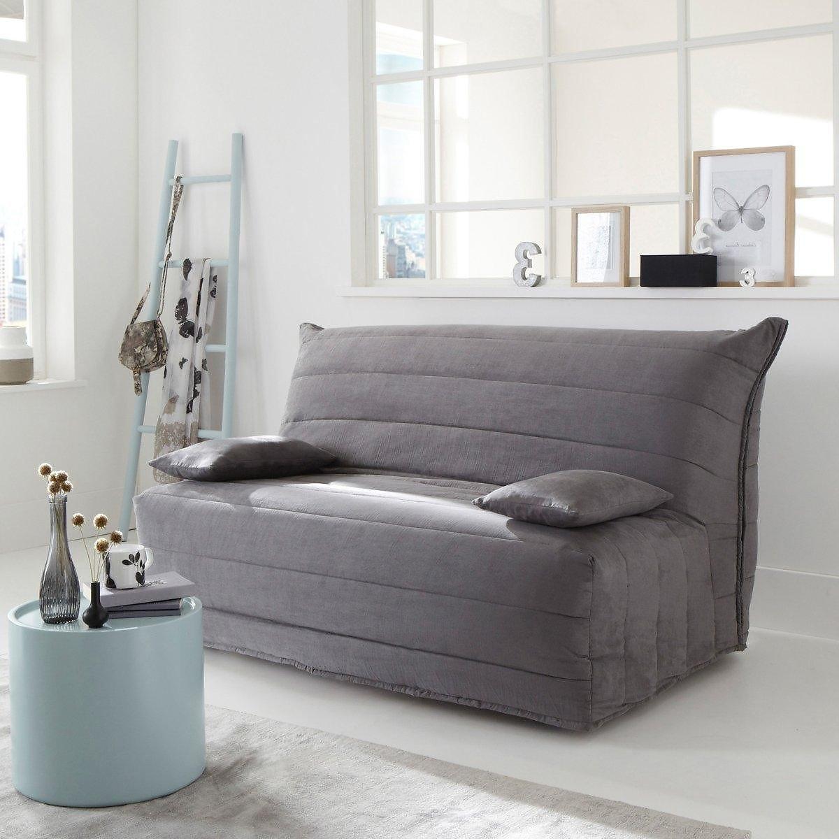 Чехол LaRedoute Для дивана-книжки из искусственной замши 140 см серый