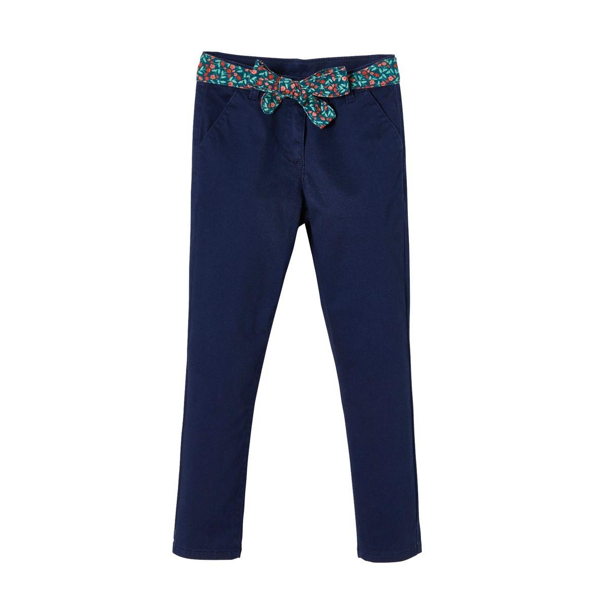 Pantalon chino avec ceinture foulard