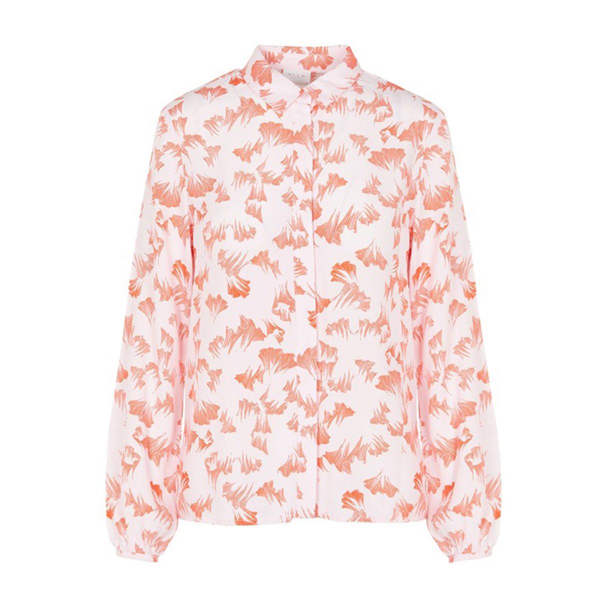 Рубашка La Redoute С цветочным принтом и длинными рукавами 36 (FR) - 42 (RUS) розовый