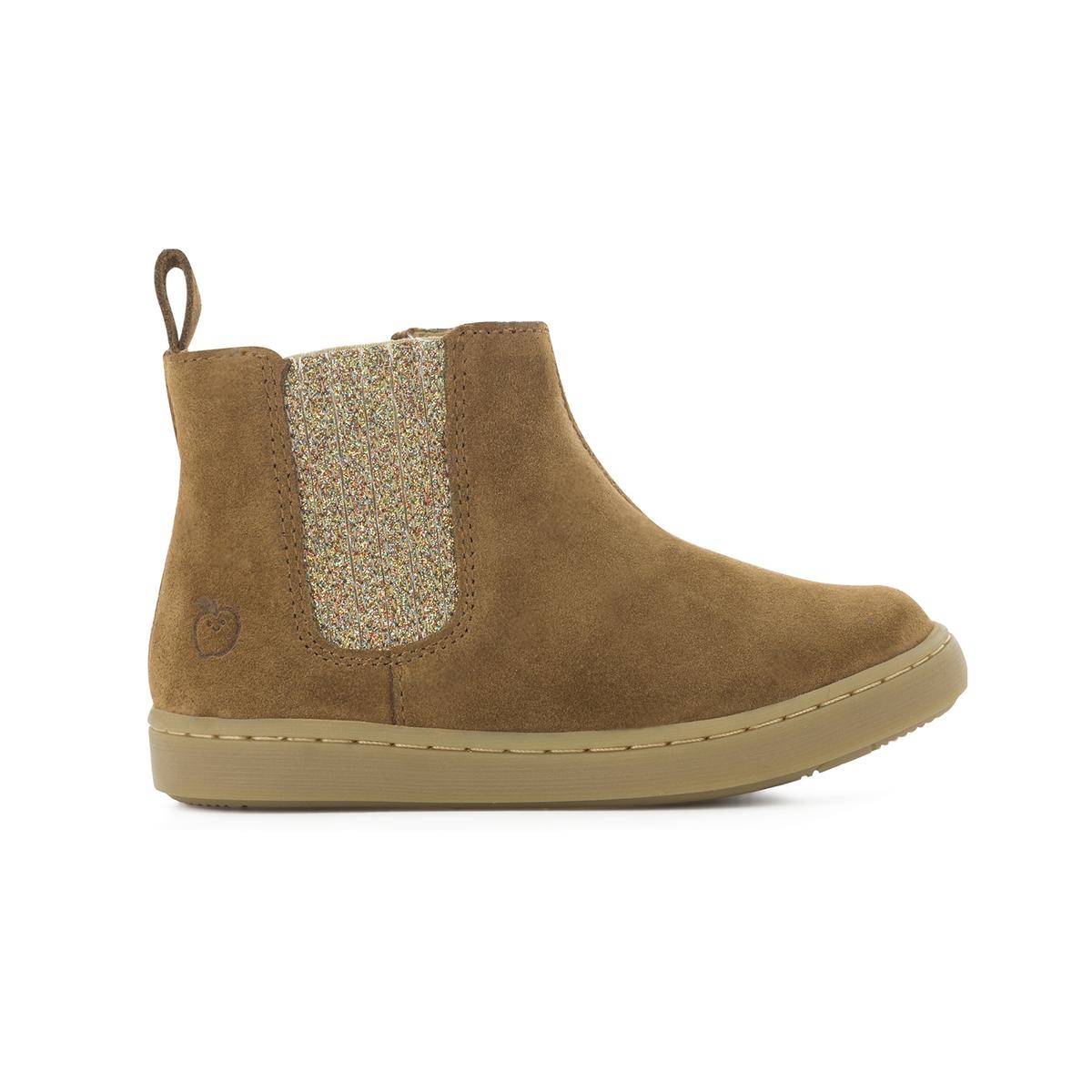 Boots pelle PLAY SHINE ELAST VELOURS/GLITER