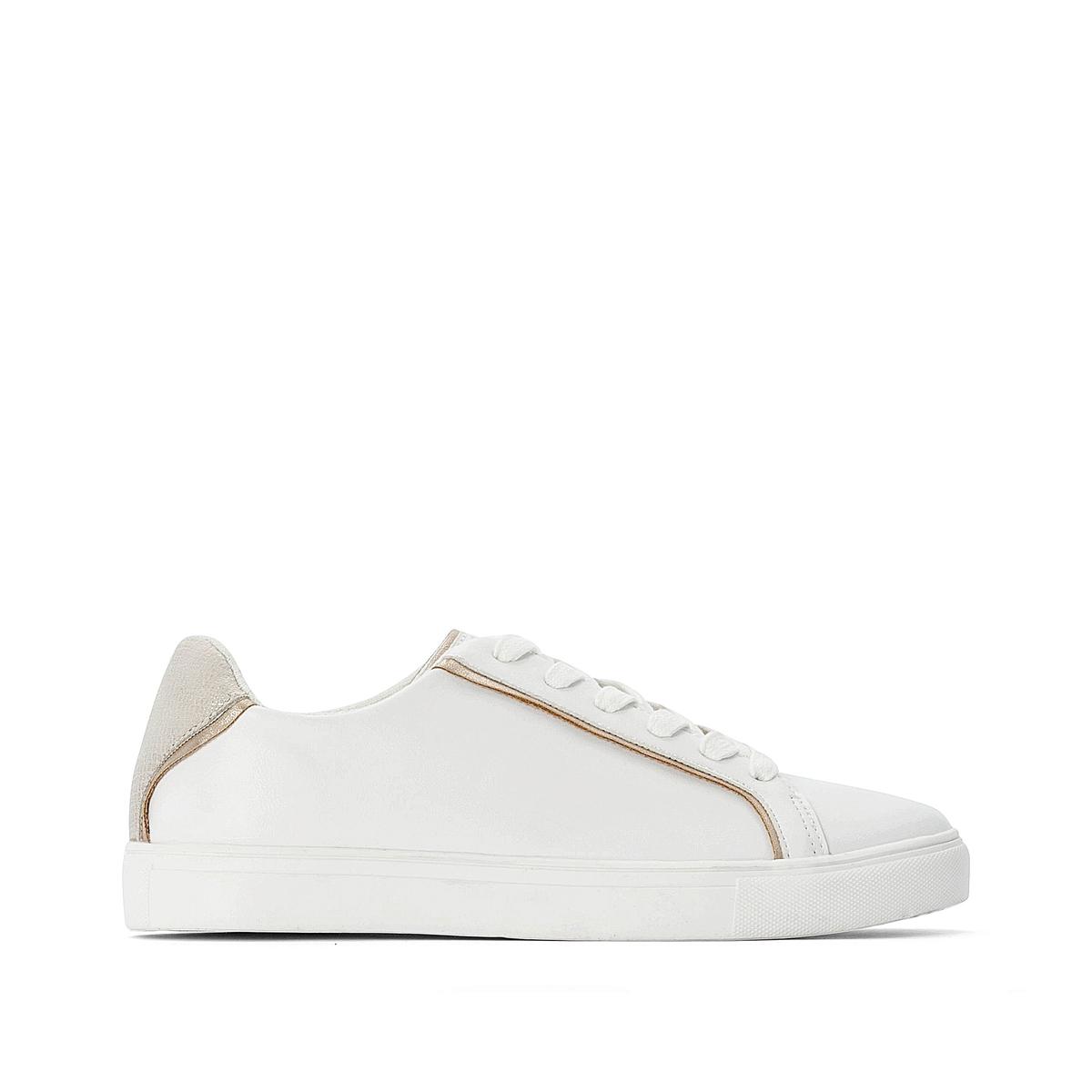 Кроссовки La Redoute — На шнуровке с золотыми вставками 42 белый