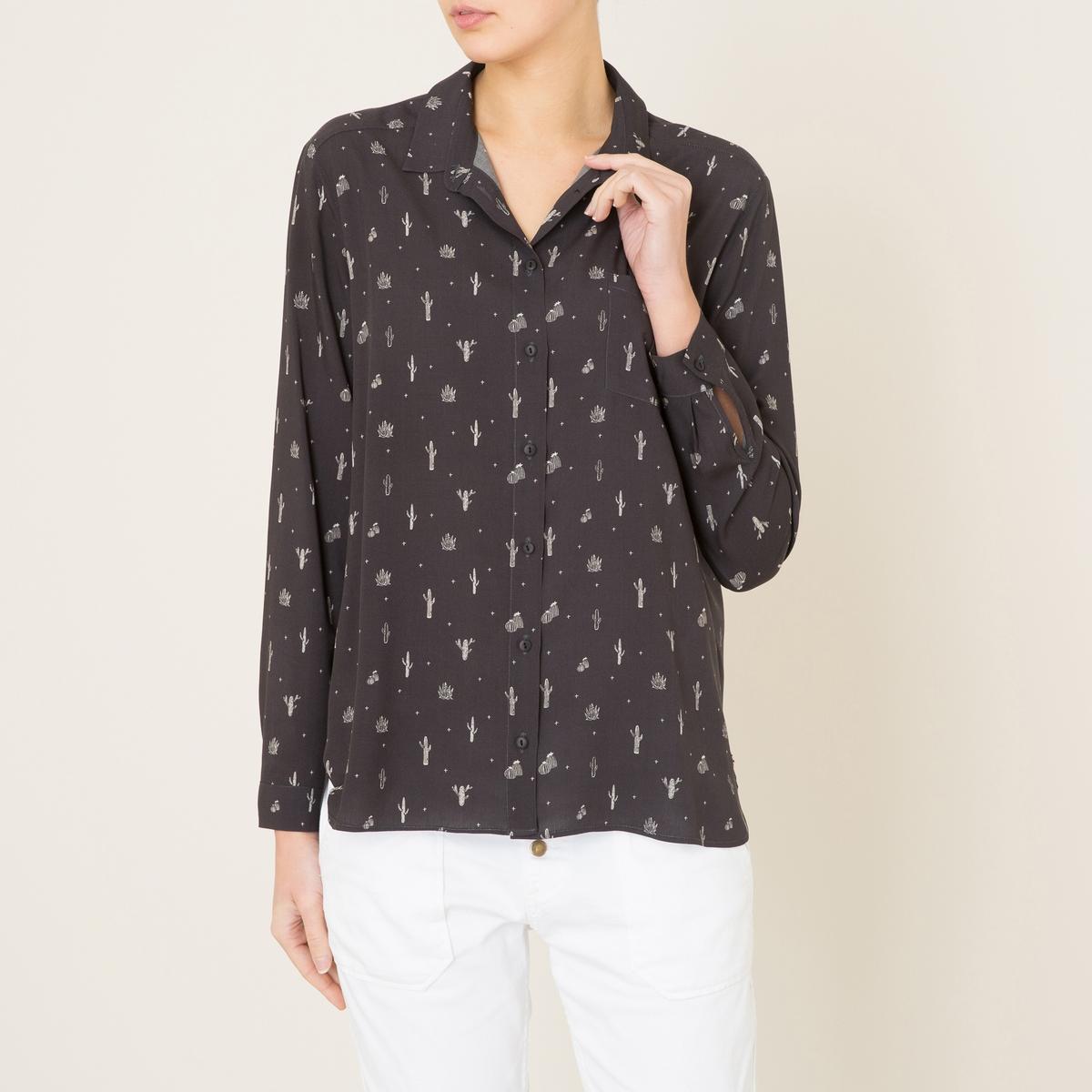 Рубашка с рисункомСостав и описание    Материал : 100% вискоза   Марка : HARRIS WILSON<br><br>Цвет: антрацит<br>Размер: L