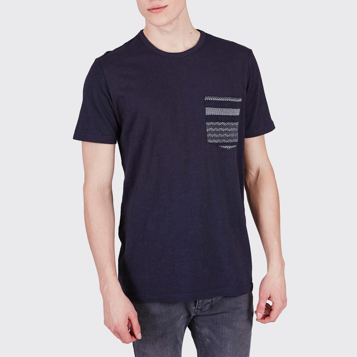 Футболка с карманом KintaraОднотонная футболка с короткими рукавами KINTARA - MINIMUM. Прямой покрой, круглый вырез. 1 нагрудный карман с рисунком.Состав и описание :Материал : 100% хлопка.Марка : MINIMUM<br><br>Цвет: темно-синий<br>Размер: L