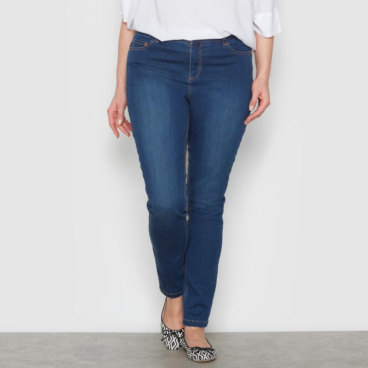 Джинсы облегающего покроя стретч,  длина по внутр.шву ок. 78 смПодчеркивается талия, бедра, ягодицы зрительно округляются: джинсы облегающего покроя отлично сидят и чрезвычайно удобны! Расклешенный низ. 5 карманов.Рост от 1 м 65 см: длина по внутр.шву ок. 78 см, ширина по низу 15,5 см.<br><br>Цвет: голубой потертый,синий потертый,темно-синий,черный<br>Размер: 44 (FR) - 50 (RUS).52 (FR) - 58 (RUS).54 (FR) - 60 (RUS).56 (FR) - 62 (RUS).58 (FR) - 64 (RUS).54 (FR) - 60 (RUS).50 (FR) - 56 (RUS)