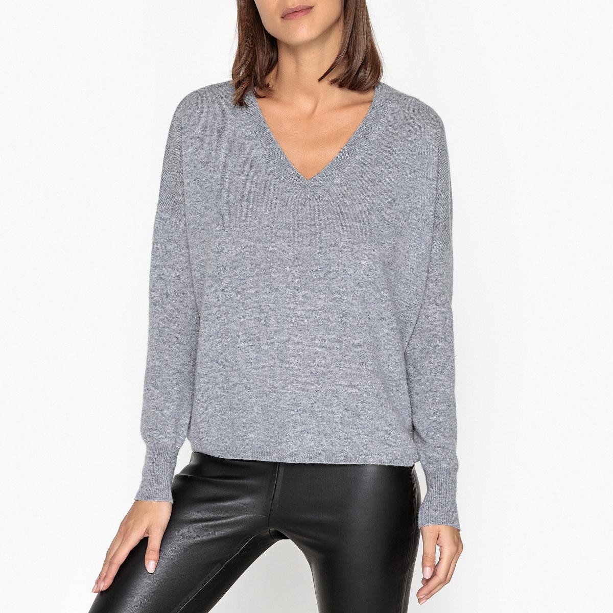 Пуловер кашемировый с V-образным вырезом женский пуловер brand new 2015