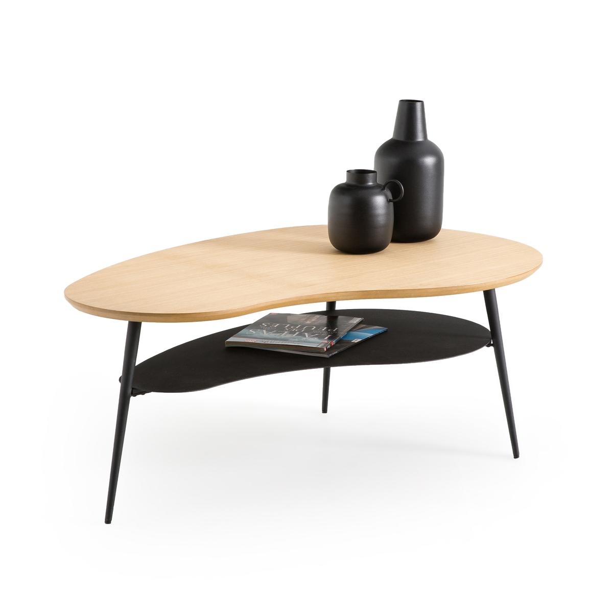 Столик LaRedoute Журнальный с двумя столешницами Matacou единый размер каштановый