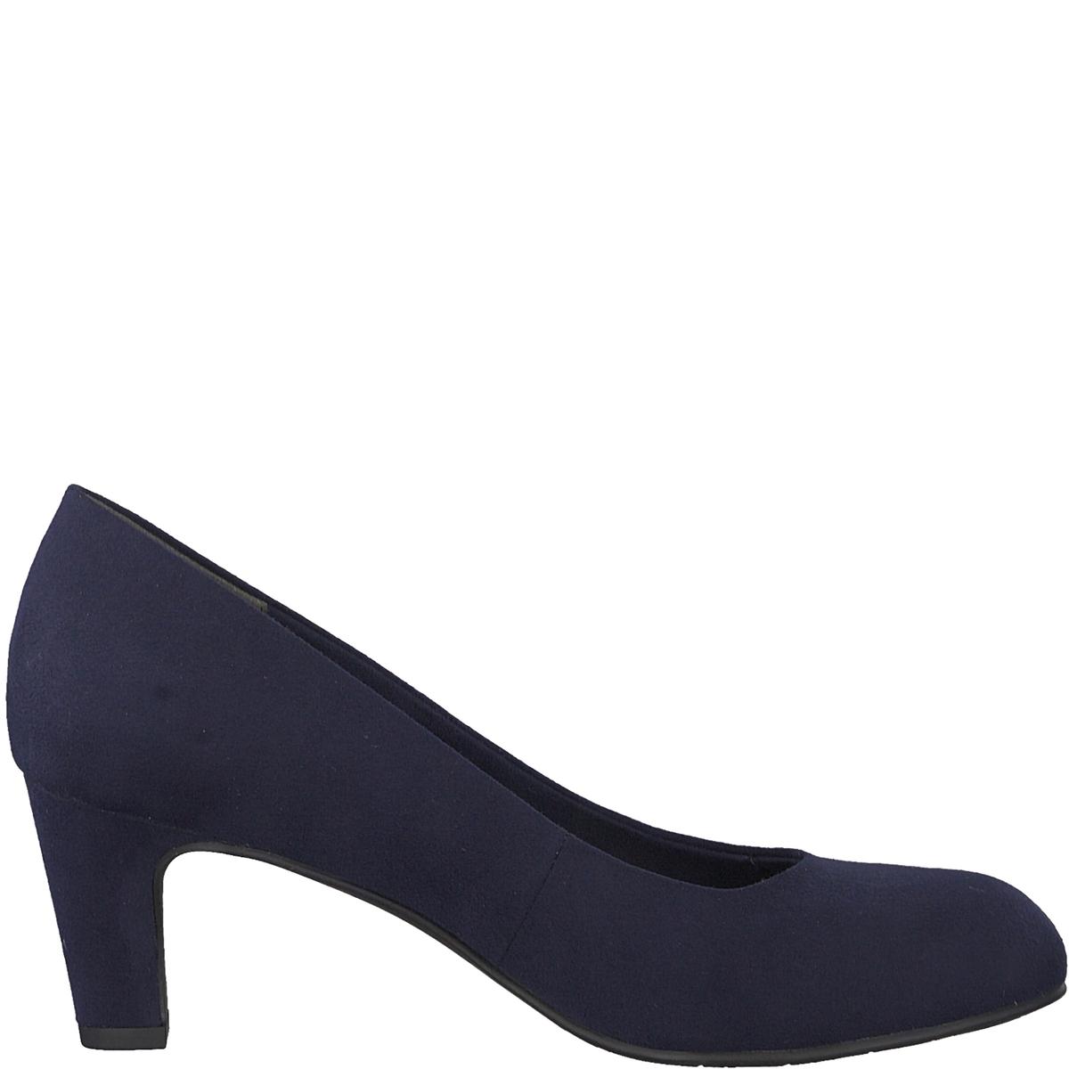 Туфли тканевыеДетали  •  Широкий каблук •  Высота каблука : 6 см •  Застежка : без застежки •  Круглый мысокСостав и уход  •  Верх 100% текстиль •  Подкладка 50% синтетического материала, 50% текстиля •  Стелька 100% синтетический материал<br><br>Цвет: синий морской,черный