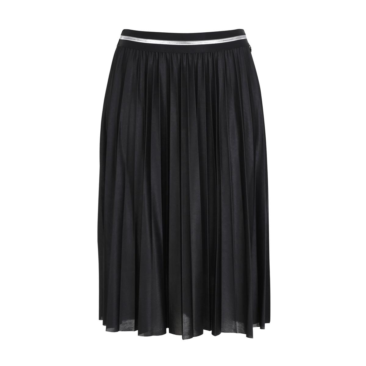 Юбка плиссированная и металлизированная юбка emka fashion
