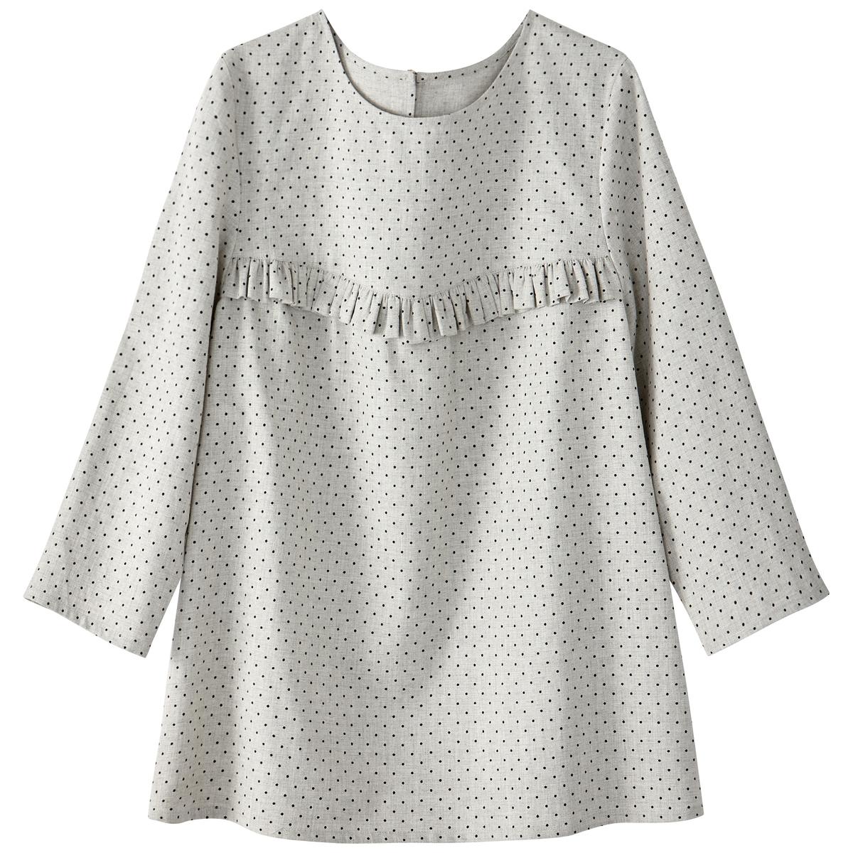 Блузка с рукавами 3/4 и воланом на пластроне