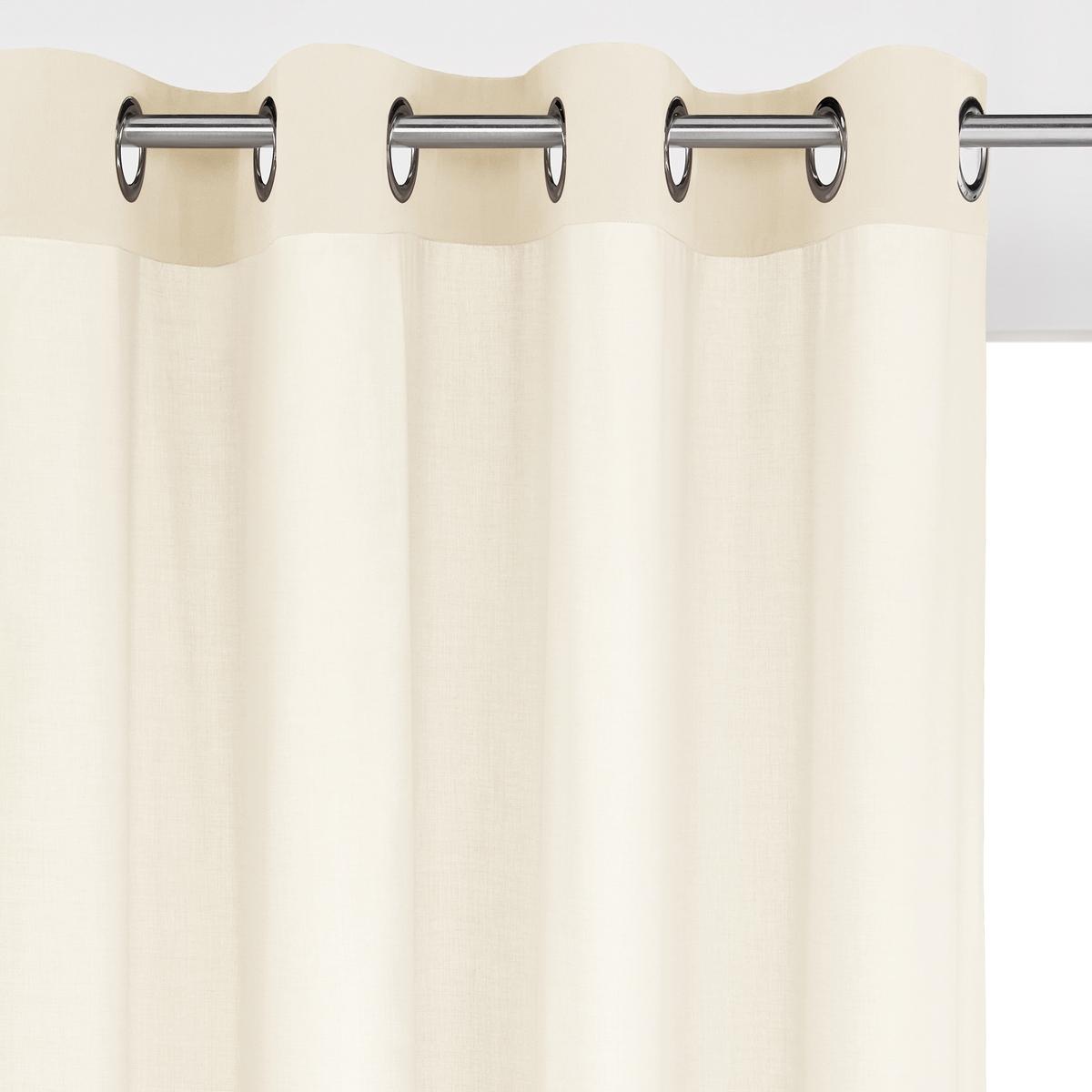 Занавеска La Redoute С люверсами из хлопка SCENARIO 180 x 135 см белый штора двухцветная с люверсами 100