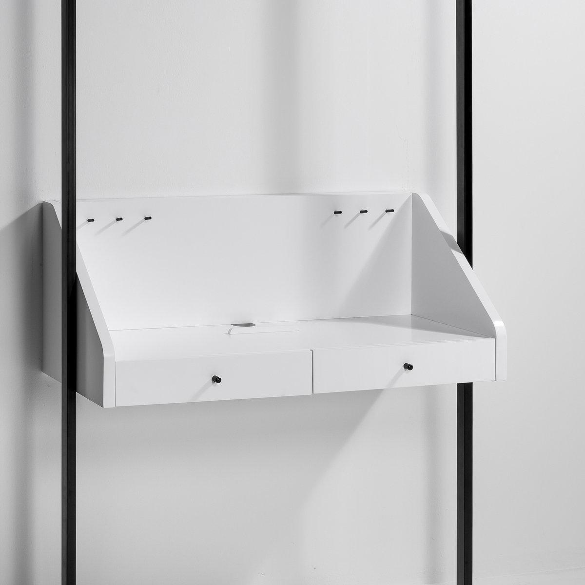 Трюмо Kyriel для гардеробнойТрюмо для размещения в гардеробной Kyriel. Гардеробная от Kyriel - это модулируемая при желании эстетичная и практичная мебельная система, созданная с учетом любых пространств и стилей . Характеристики : - МДФ, отделка полиуретановым лаком матового или блестящего цвета- Крепится на стену с помощью входящего в комплект крепления - Вы также можете закрепить трюмо на стойках Kyriel  с помощью уголковых кронштейнов Taktik, продающихся на нашем сайте .Размеры : - 110 x 45 x 45,5 см . Доставка:Доставка будет осуществлена до вашей квартиры  ! Внимание ! Убедитесь, что товар возможно доставить на дом, учитывая его габариты (проходит в двери, по лестницам, в лифты).<br><br>Цвет: белый,ореховый,черный