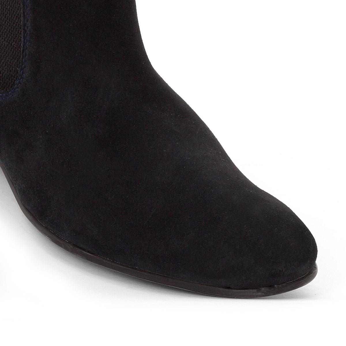 Ботинки-челси BrokerВерх / Голенище : кожа.   Подкладка : кожа.   Стелька : кожа.   Подошва : Каучук   Застежка : без застежки<br><br>Цвет: темно-синий