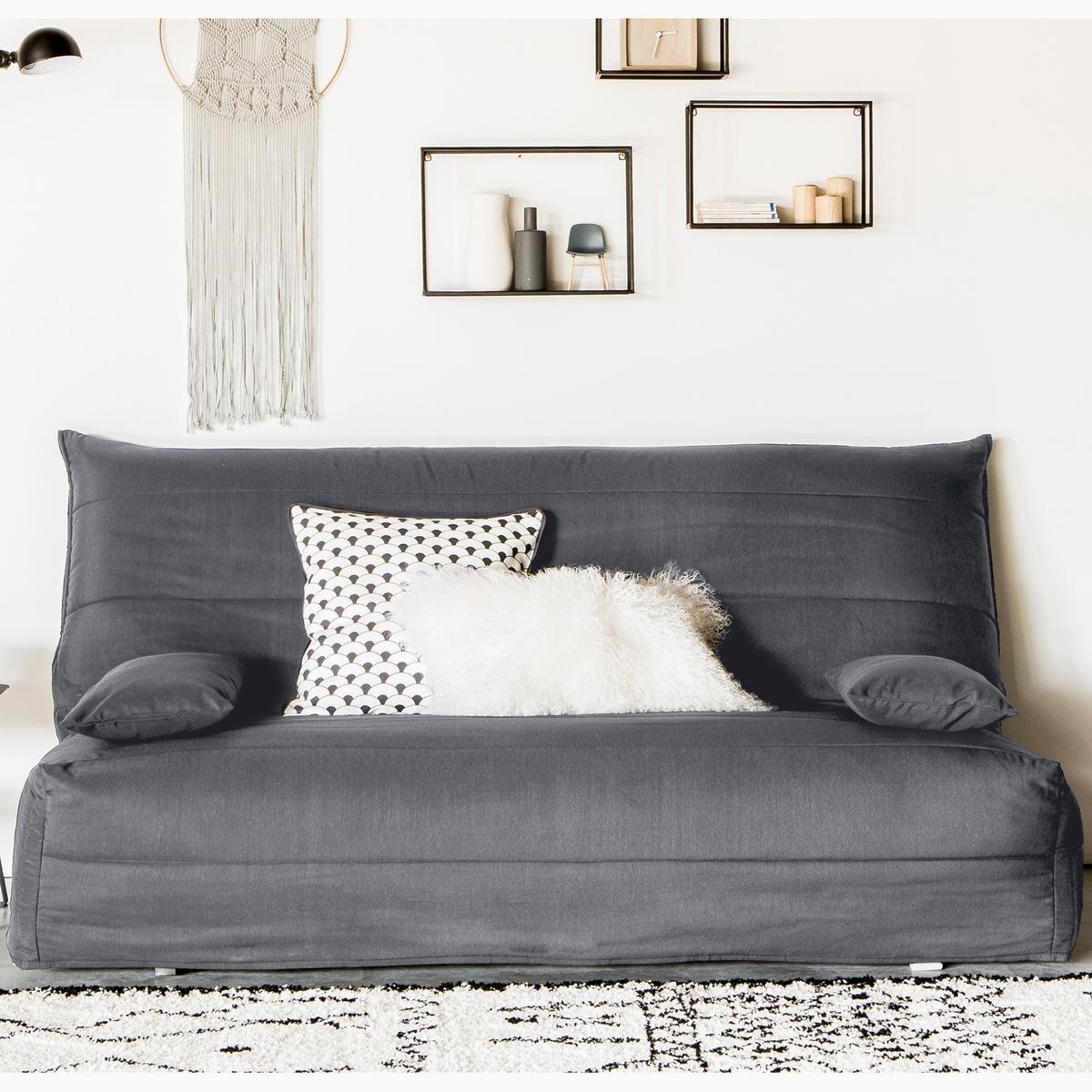 Чехол La Redoute Стеганый из поликоттона для дивана-аккордеона 160 см серый