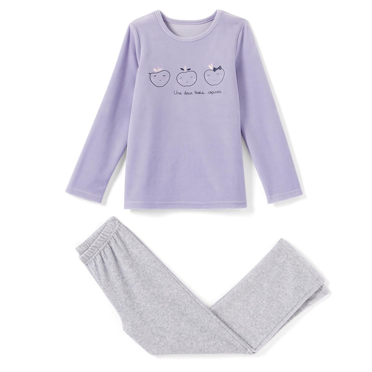 Пижама из велюра, 2-12 лет