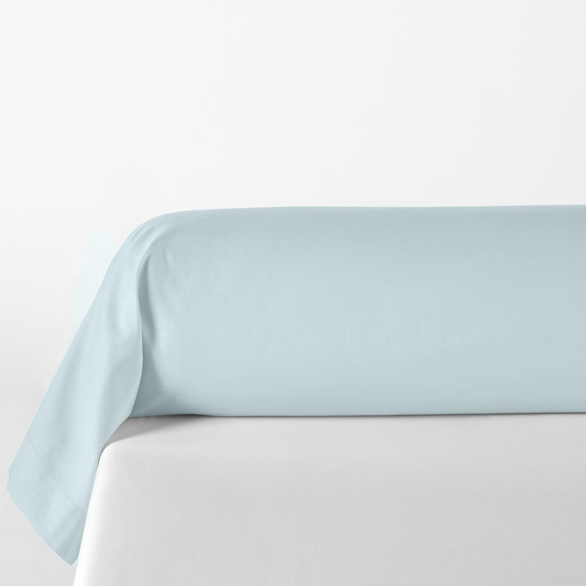 наволочки на подушку и наволочка на подушку валик из хлопка richmond Наволочка LaRedoute На подушку-валик однотонная из хлопка и лиоцелла Lyo 85 x 185 см синий