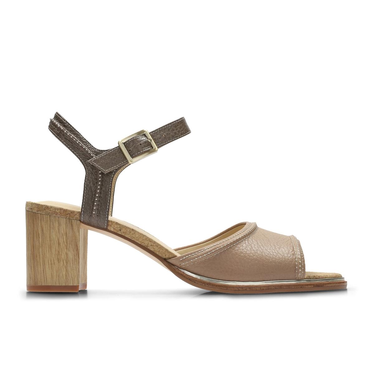 Сандалии кожаные на каблуке Ellis Clara спортивные сандалии clarks orla bella 2 27