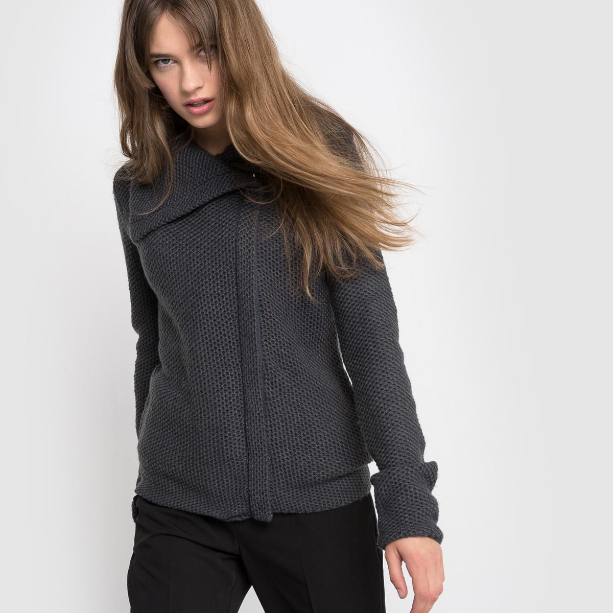 Кардиган-курткаСостав и описание :Длина : 57 смМатериал : 100% акрилМарка :      R ?ditionУходСтирка при 30° с одеждой подобного цвета Не гладить<br><br>Цвет: серый<br>Размер: 42/44 (FR) - 48/50 (RUS)