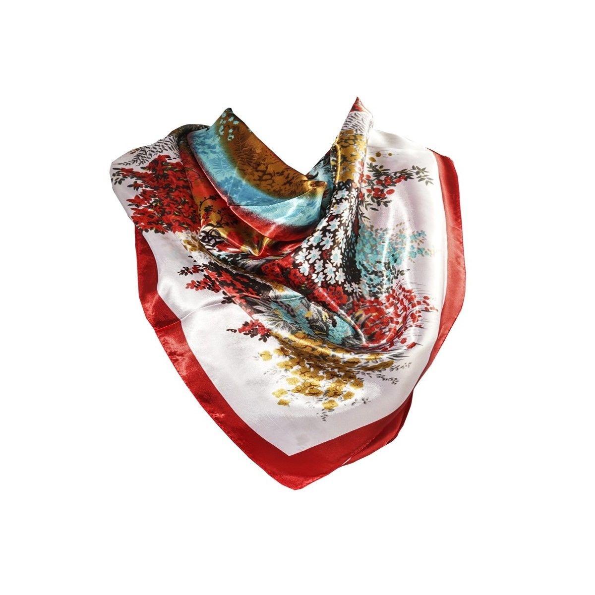 Foulard motif Bordeaux avec sa pochette cadeau