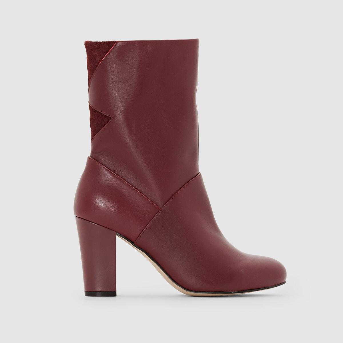 Сапоги кожаныеПреимущества :  сапоги на высоком каблуке из очень красивой кожи со вставками под замшу сзади никогда вас не разочаруют, независимо от вашего наряда<br><br>Цвет: бордовый,черный<br>Размер: 38.39.40.36.37.39.40