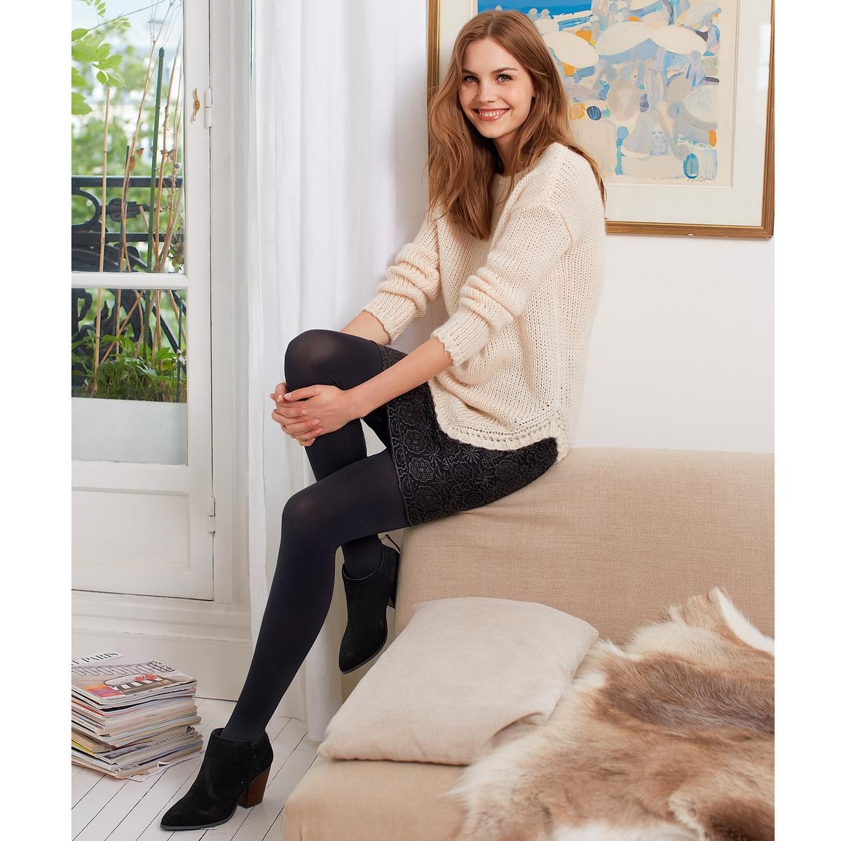 Пуловер из мягкого и пушистого трикотажа, 25% мохераПушистый пуловер из джерси крупной нити, 75% акрила, 25% мохера. Длинные рукава. Закругленный низ. Асимметрия: удлиненная спинка, длина 72 см.Модель свободной посадки по фигуре. Если Вы хотите, чтобы модель облегала силуэт, заказывайте на 1 размер меньше Вашего обычного размера.  Плюс модели: мохер придает пуловеру мягкость и объем.<br><br>Цвет: розовый экрю<br>Размер: 46/48 (FR) - 52/54 (RUS)