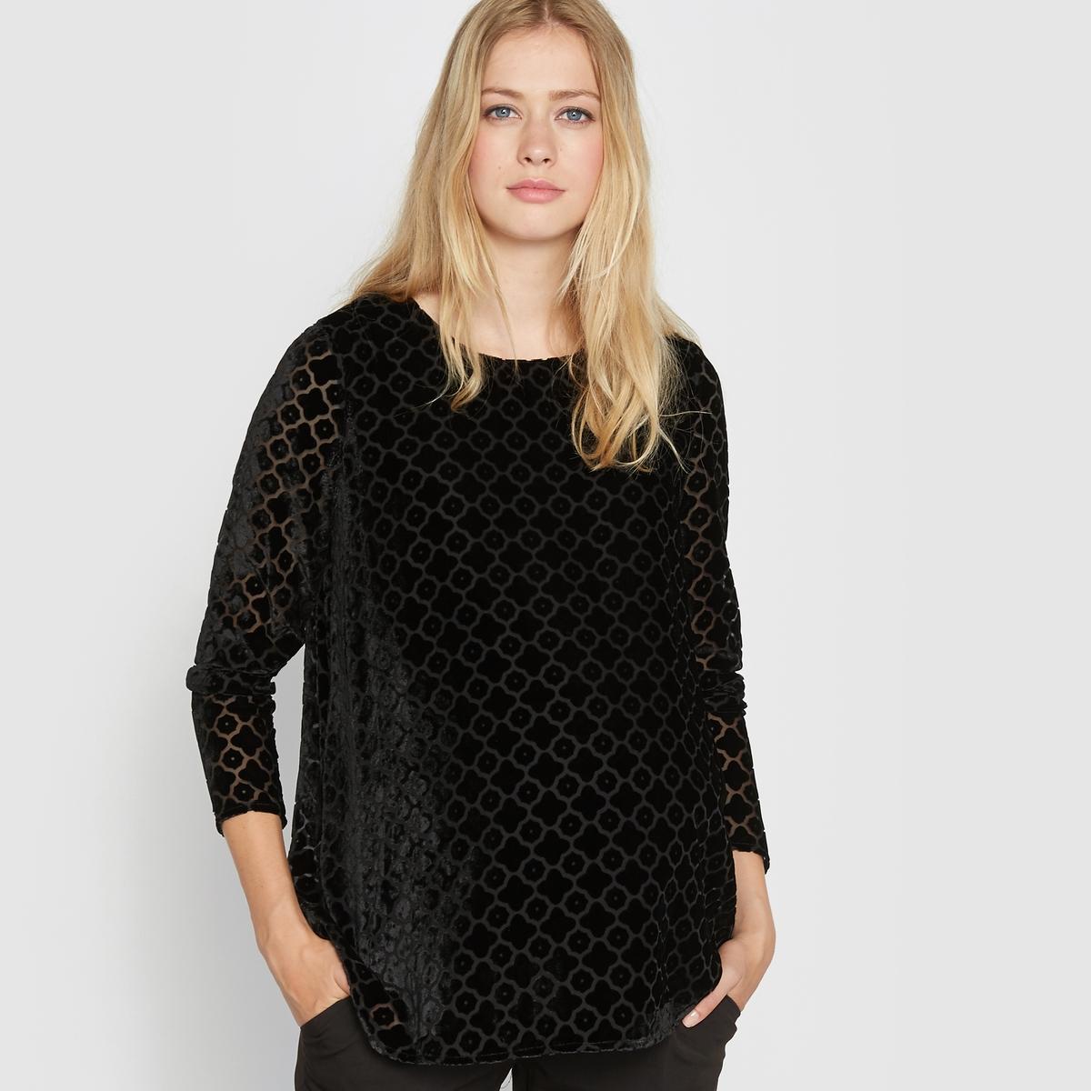 Блузка для периода беременности из велюра деворе