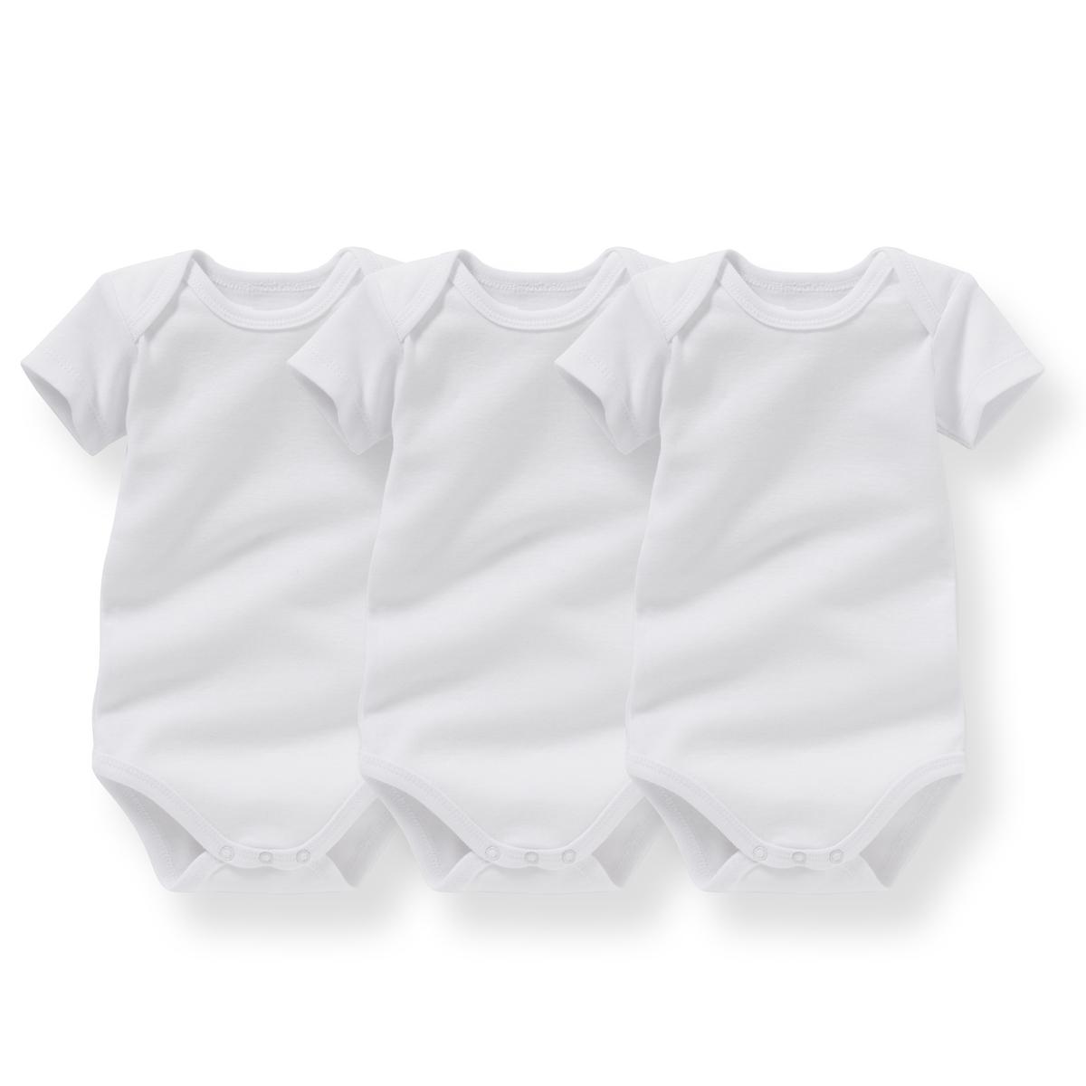 3 боди для новорожденных, 0 мес. - 3 года от La Redoute Collections